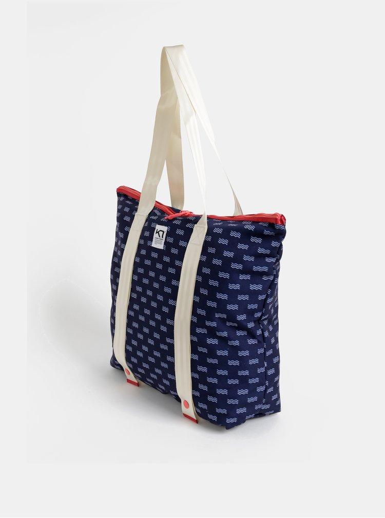 Tmavomodrá vzorovaná taška Kari Traa Maria