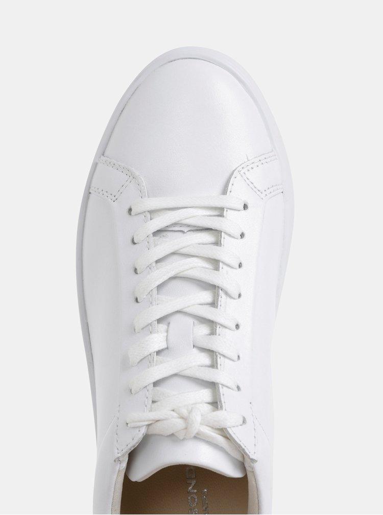 Biele kožené tenisky na platforme Vagabond Zoe
