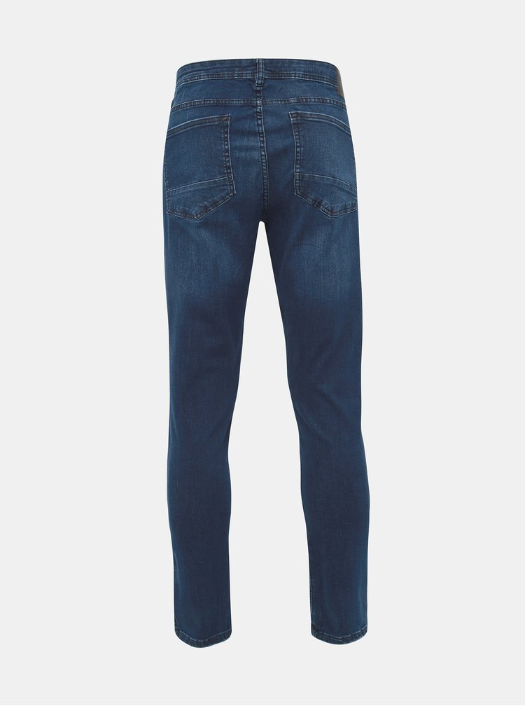 Modré skinny fit džíny Burton Menswear London Indigo