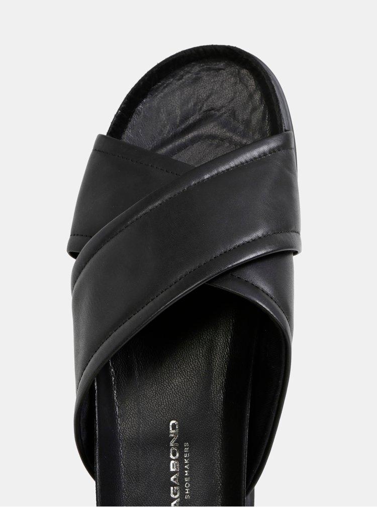 Černé kožené pantofle Vagabond Erin