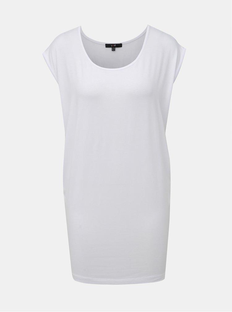 Biele dlhé tričko Yest