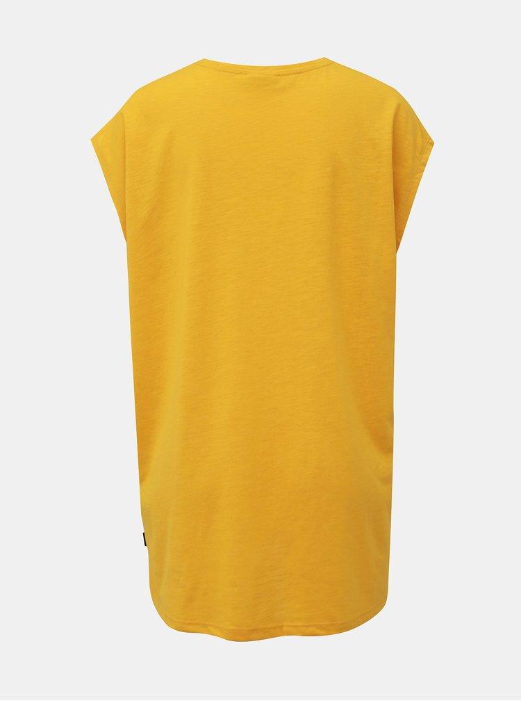 Žluté basic tričko Noisy May Mathilde