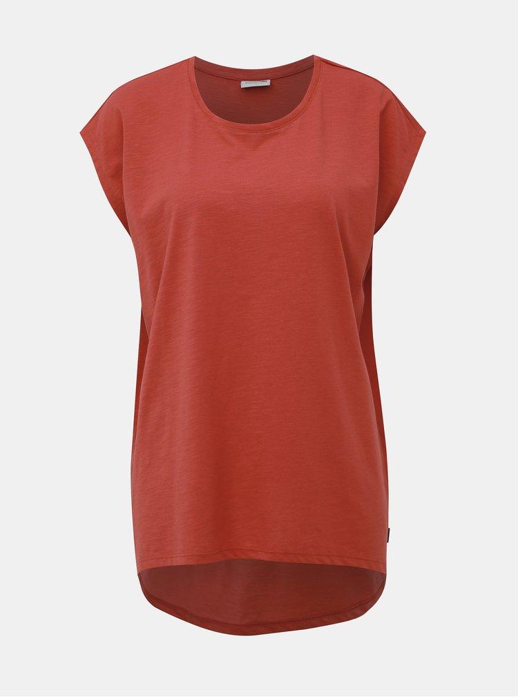 Cihlové basic tričko Noisy May Mathilde