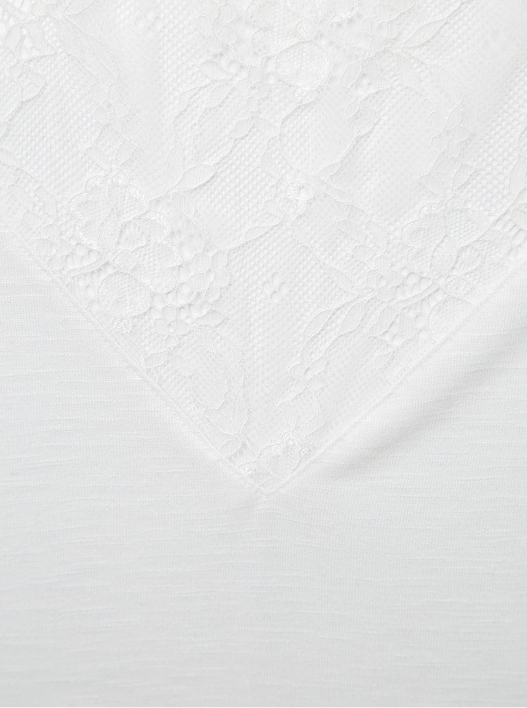 Bílé tričko s krajkou ONLY Elena