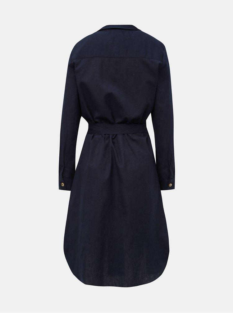 Tmavomodré košeľové šaty Jacqueline de Yong Tulip