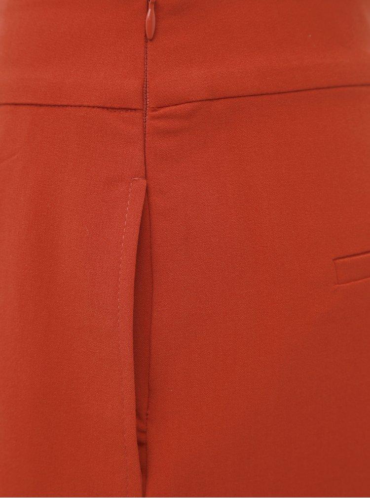 Tehlové skrácené nohavice ONLY Roma
