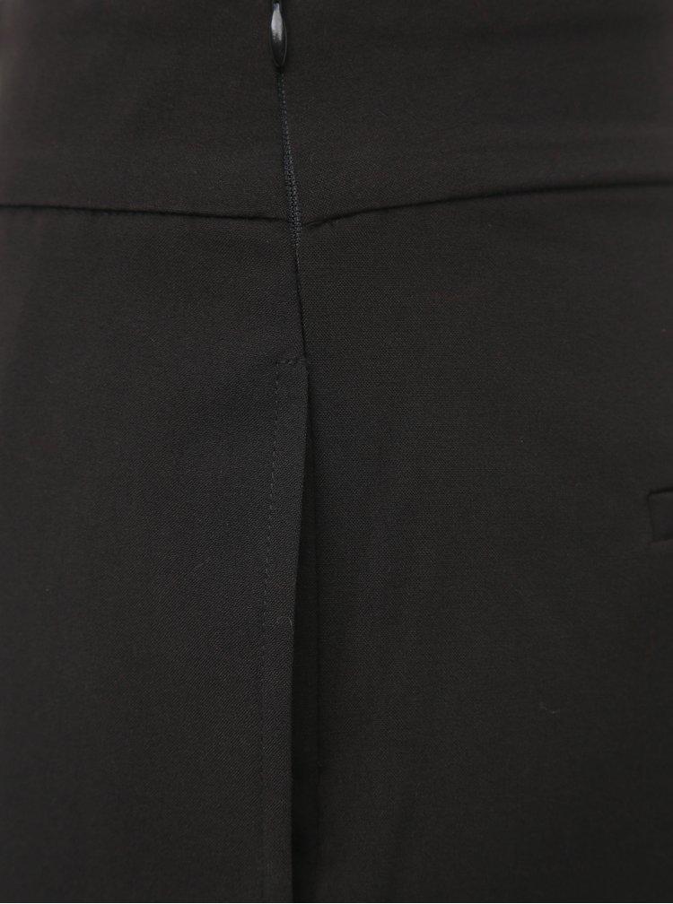Černé zkrácené kalhoty ONLY Roma