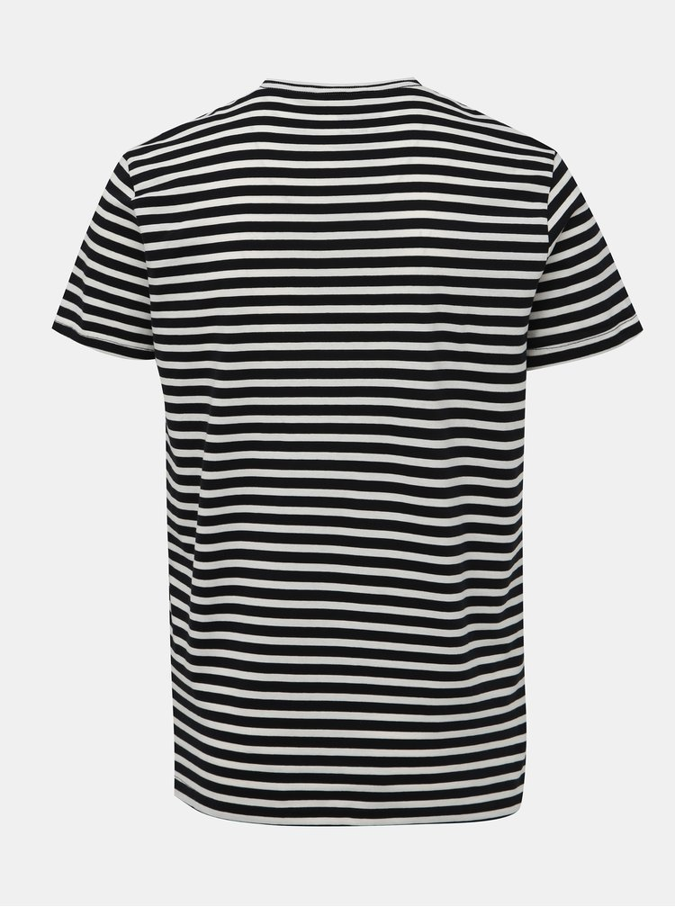 Bielo-čierne pruhované basic tričko Blend
