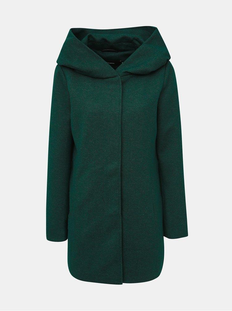 Tmavozelený kabát VERO MODA Dona