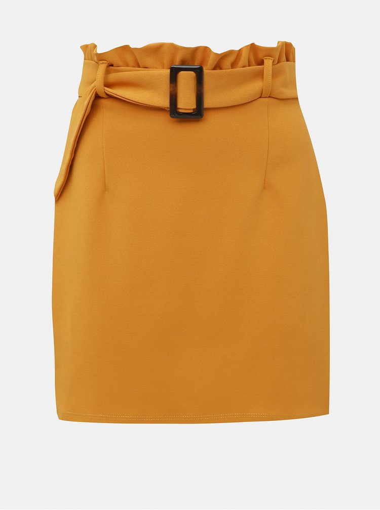 Horčicová sukňa Dorothy Perkins