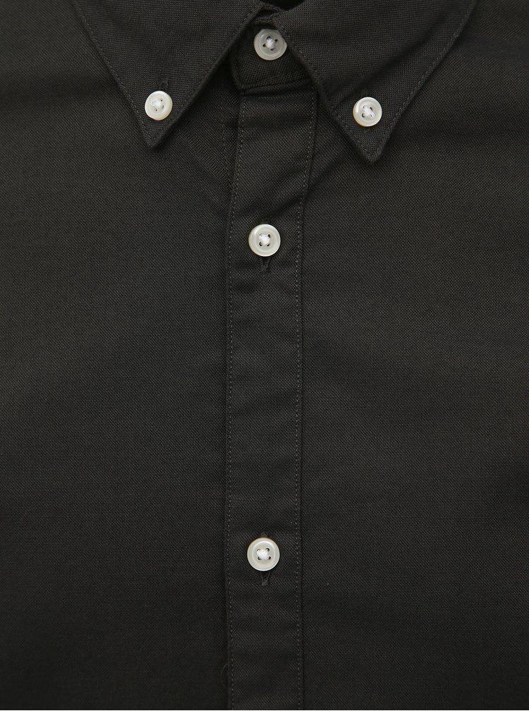 Tmavě zelená slim fit košile Jack & Jones Logo