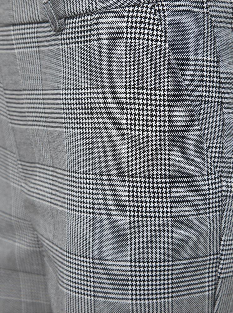 Šedé vzorované nohavice VERO MODA Maya