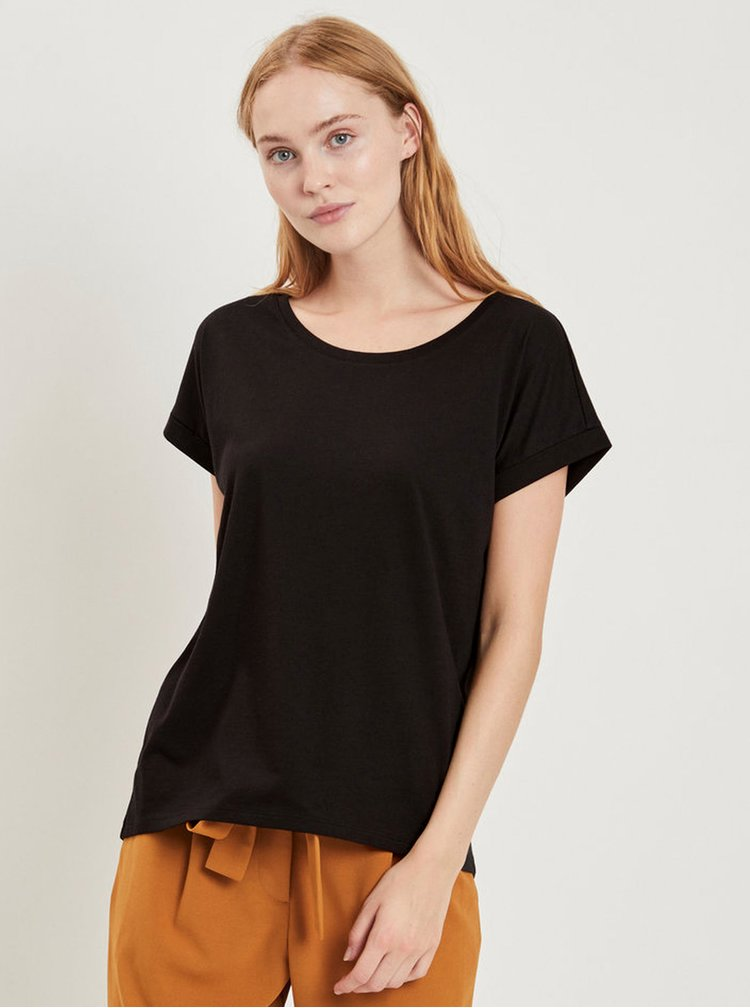 Tricou negru pentru femei VILA Dreamers