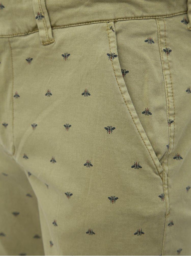 Khaki vzorované kraťasy Blend