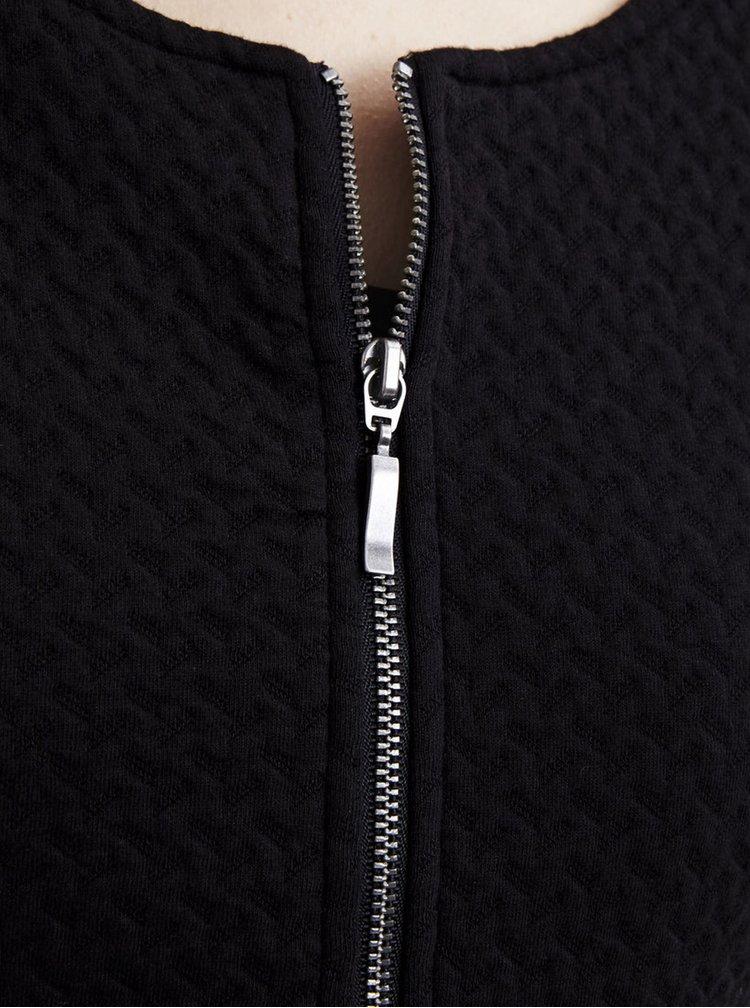 Blazer negru cu textura -  VILA Naja