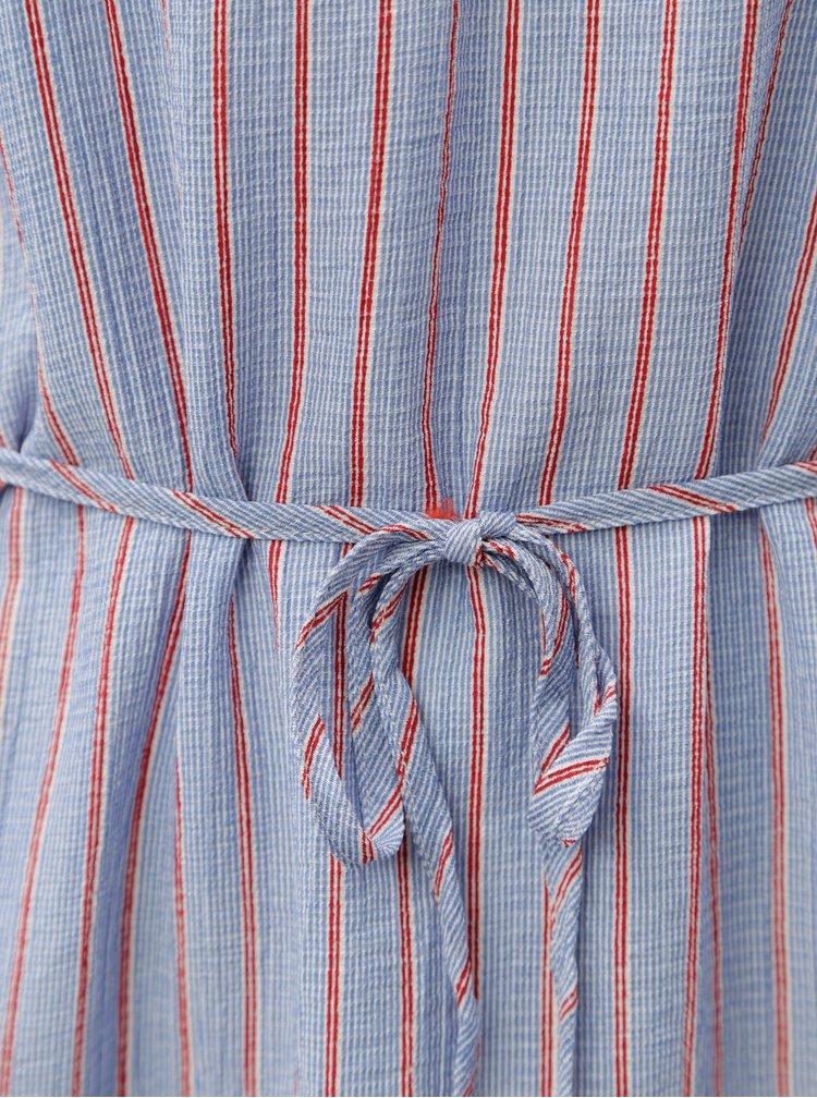 Modro-červené pruhované šaty Blendshe Lulis