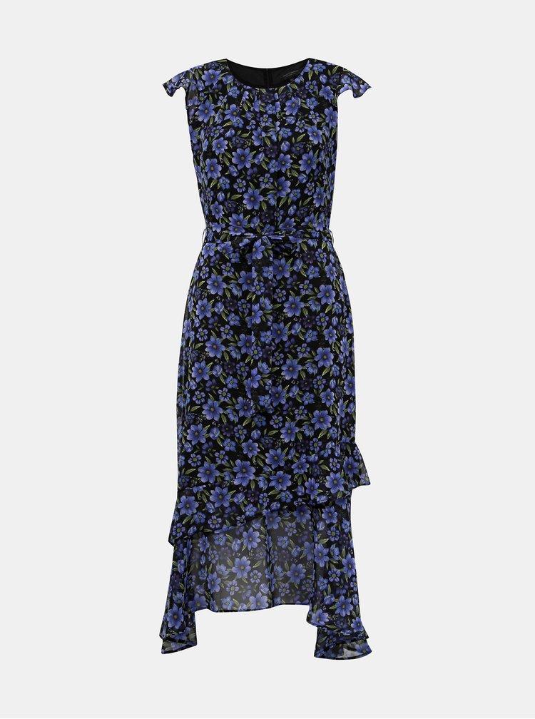 Čierno-modré kvetované maxišaty Dorothy Perkins