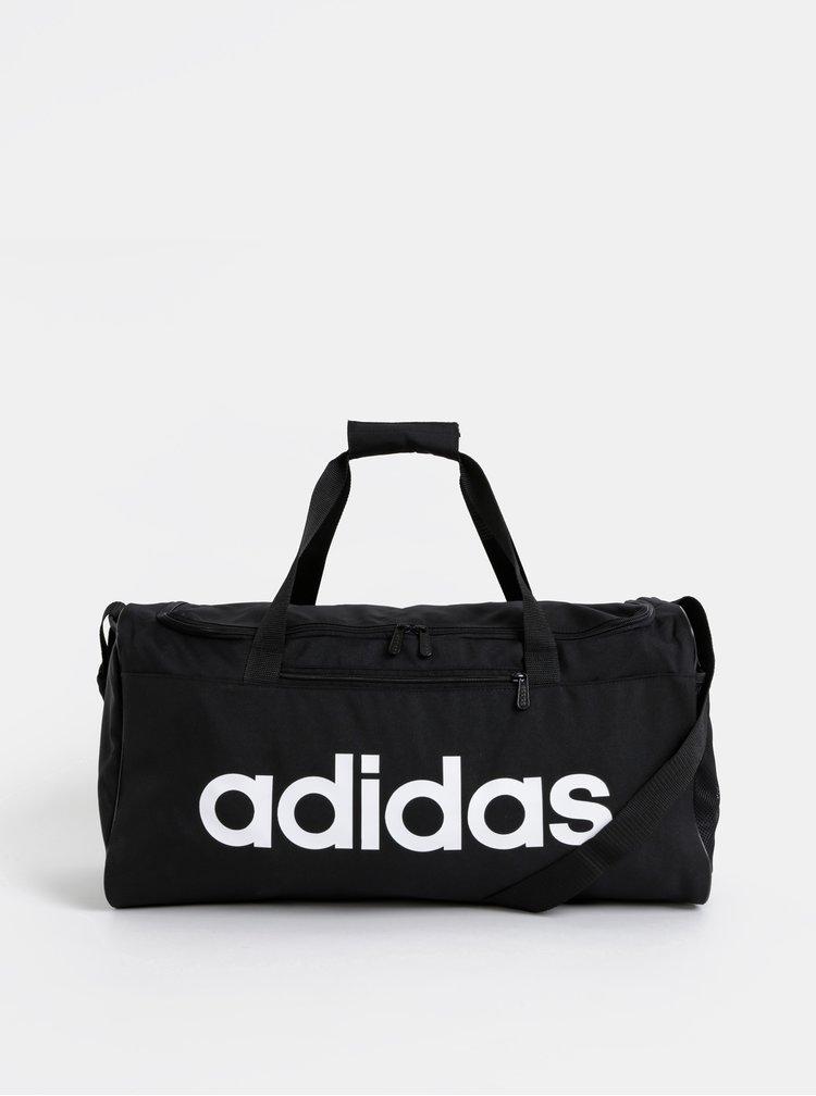 Čierna športová taška s potlačou adidas CORE 41,5 l