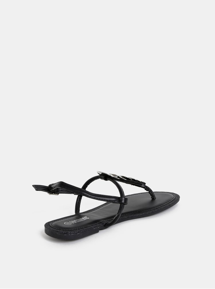 Čierne dámske sandále Haily´s Maira