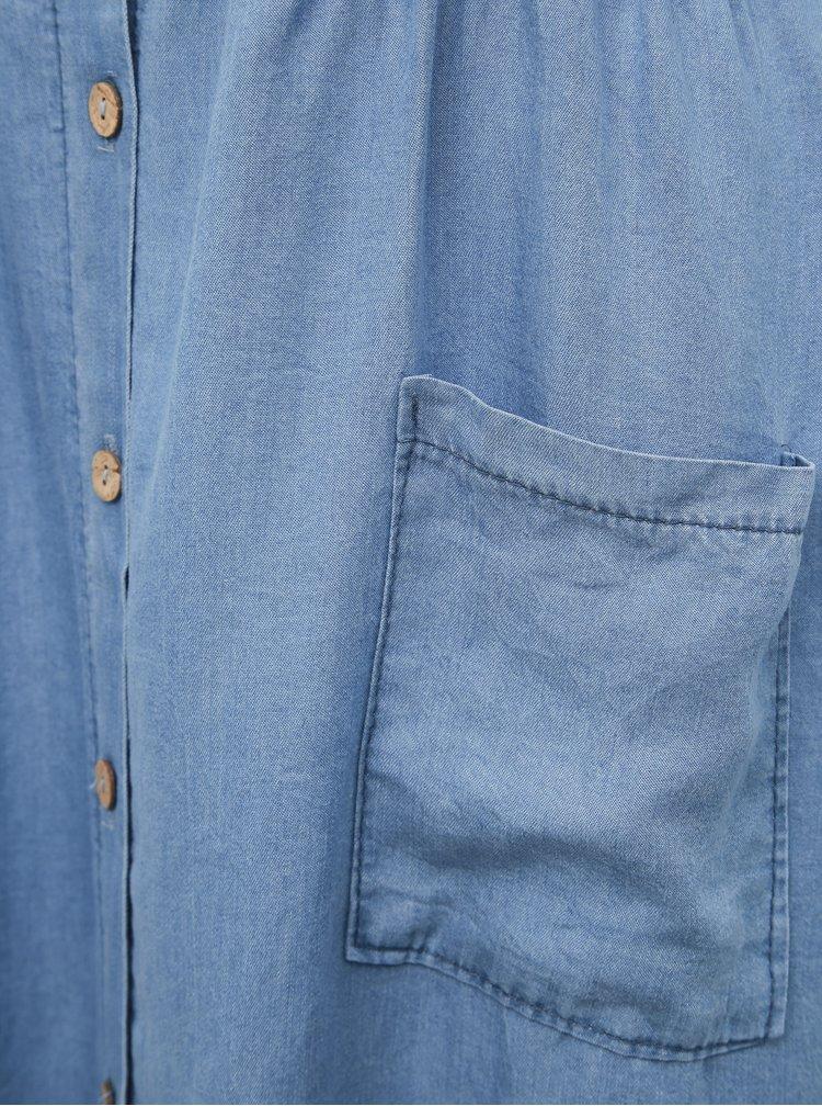 Modré rifľové šaty Haily´s Carly