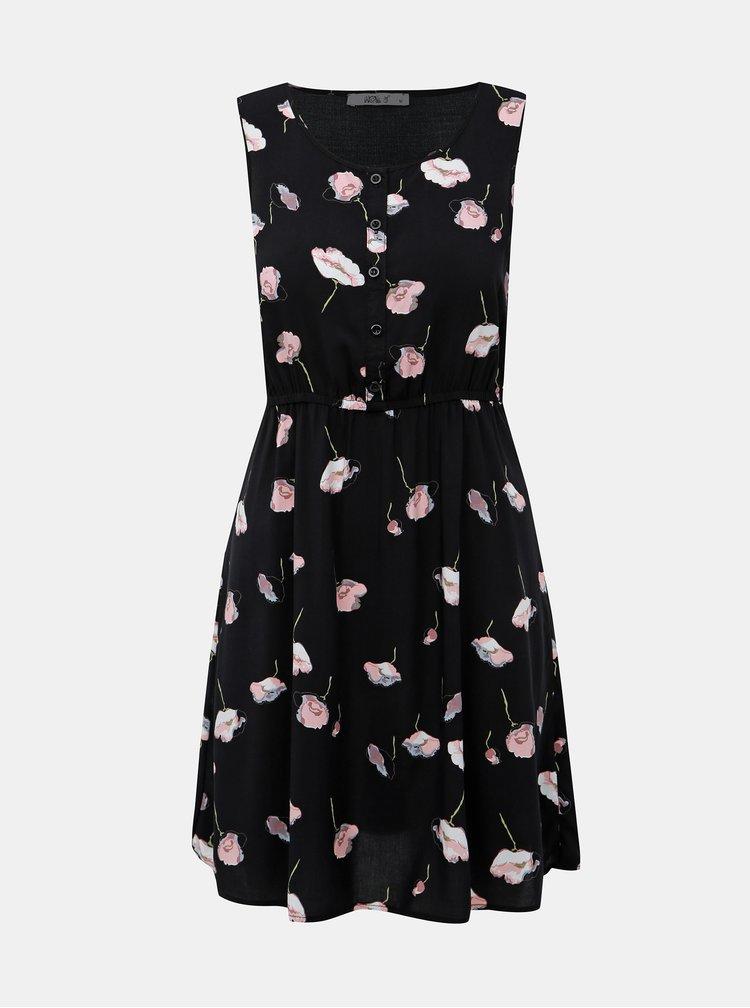 Černé květované šaty Haily´s Lia