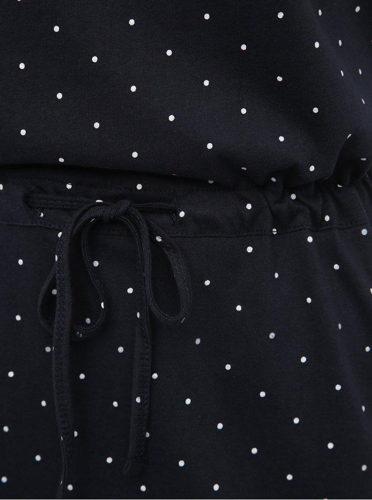 Tmavomodré bodkované šaty Haily´s Livia