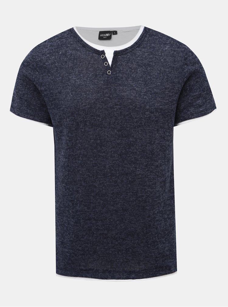 Tmavě modré pánské žíhané tričko Haily´s Siena