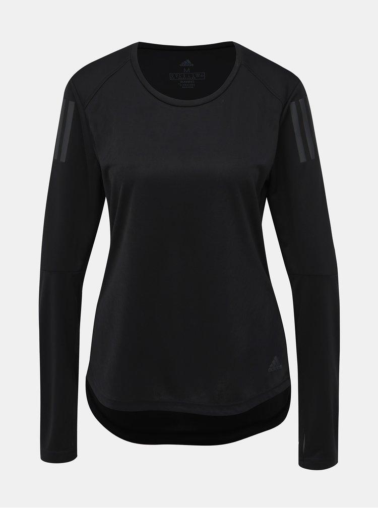 Černé dámské funkční tričko s potiskem adidas Performance
