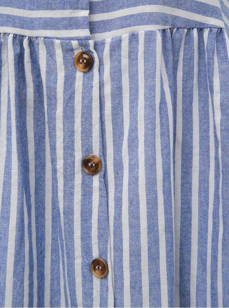 Bílo-modré pruhované šaty Haily´s Nia