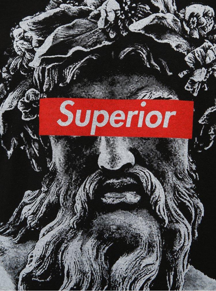 Černé pánské tričko Haily´s Superior Roman