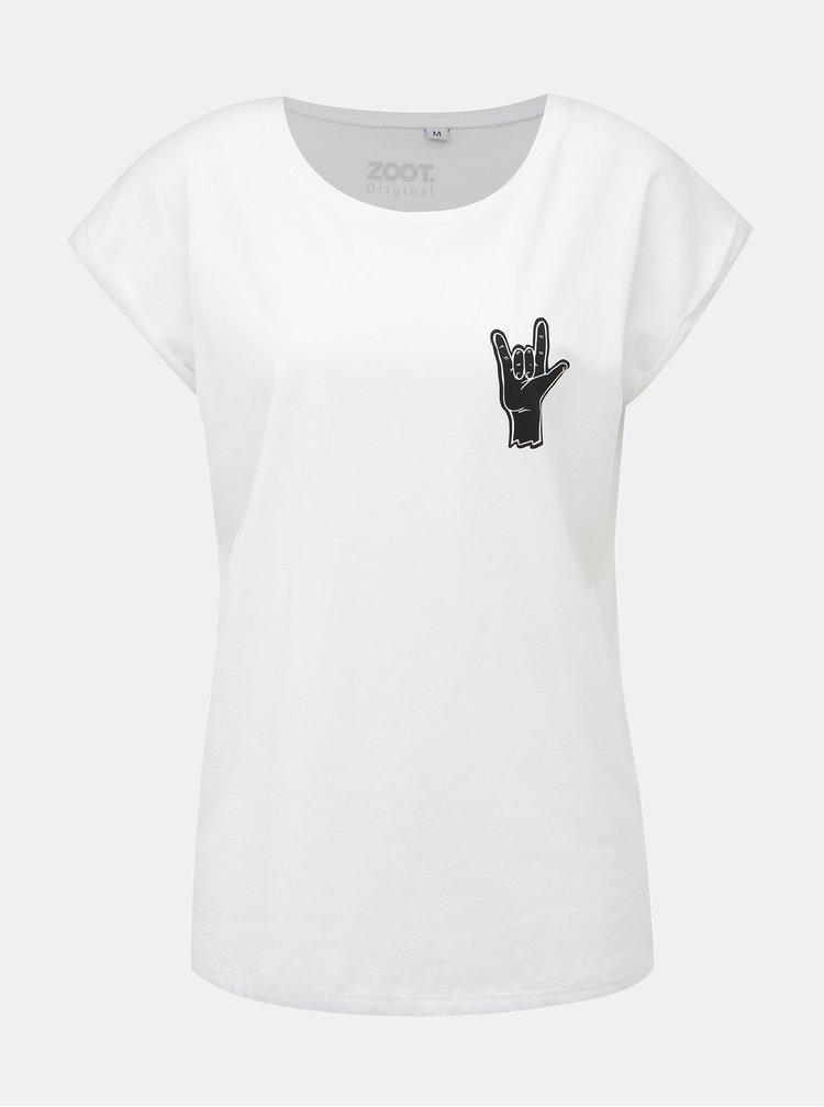 Biele dámske tričko ZOOT Original Hand Horns