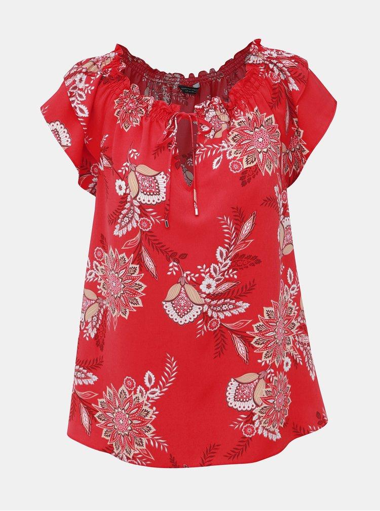 Červená kvetovaná blúzka Dorothy Perkins