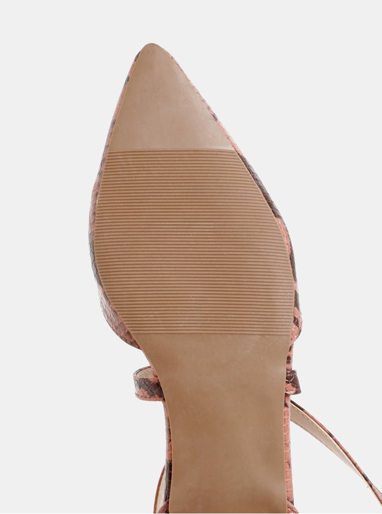 Starorůžové lodičky s hadím vzorem Dorothy Perkins
