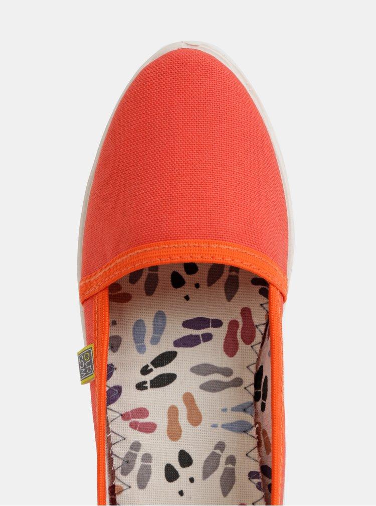Espadrile portocalii pentru femei Oldcom Canvas