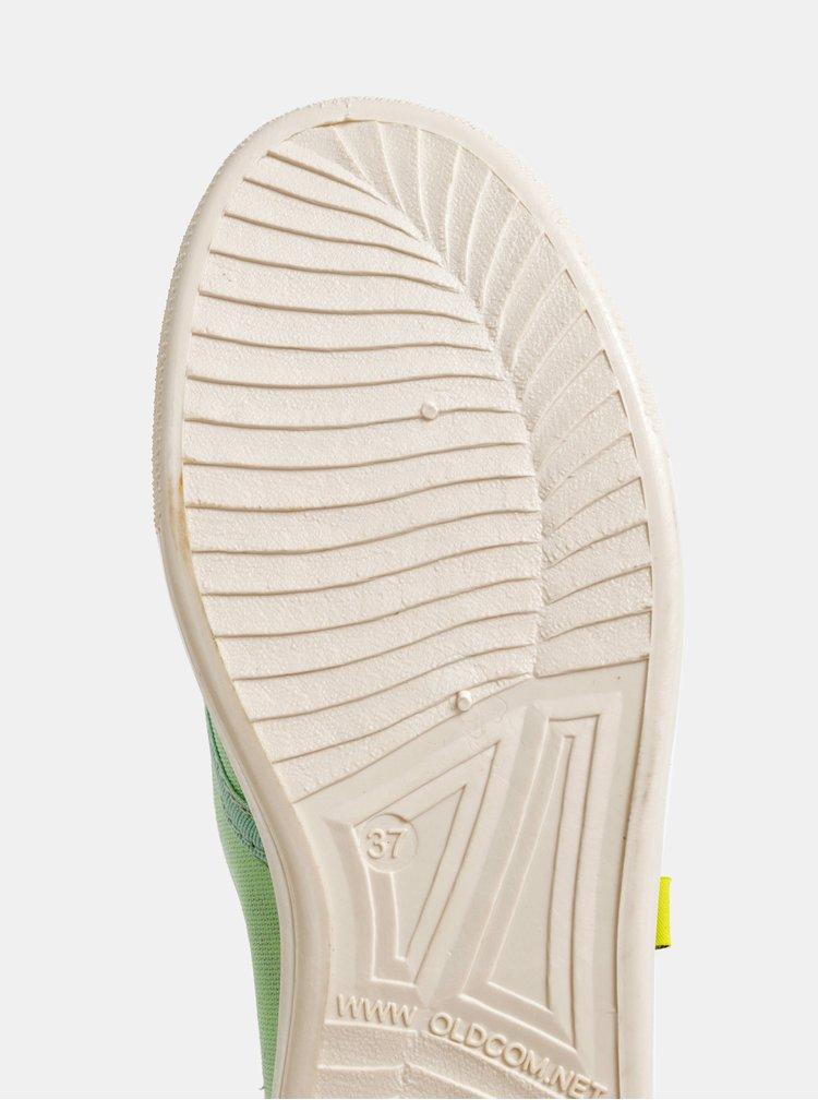 Svetlozelené dámske plátenné tenisky Oldcom Oxford