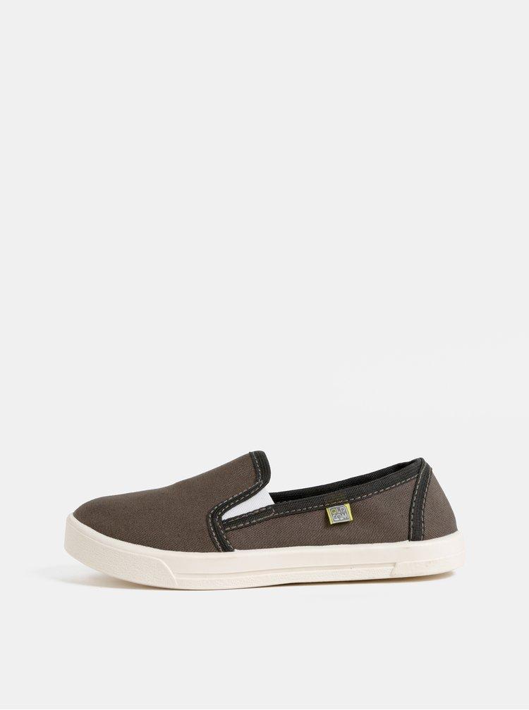 Pantofi slip-on kaki unisex Oldcom Cooper