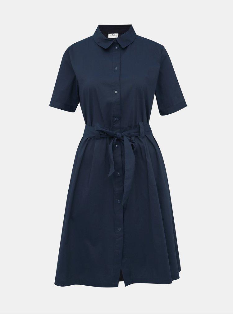 Tmavomodré košeľové šaty Jacqueline de Yong Millie
