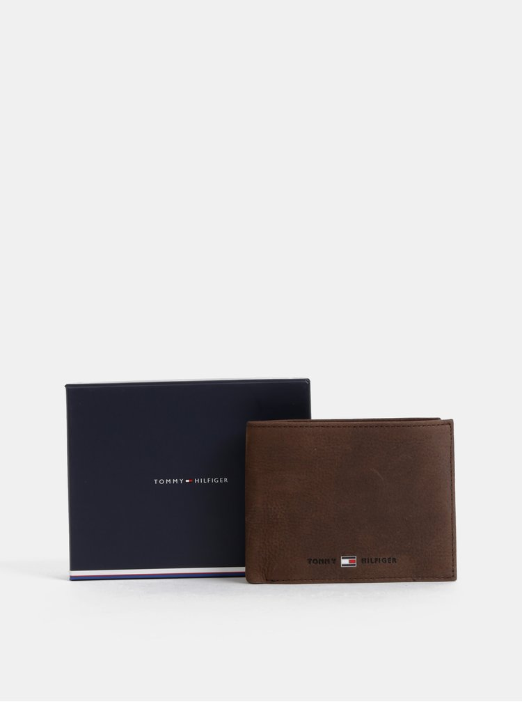 Hnědá pánská kožená peněženka Tommy Hilfiger Johnson