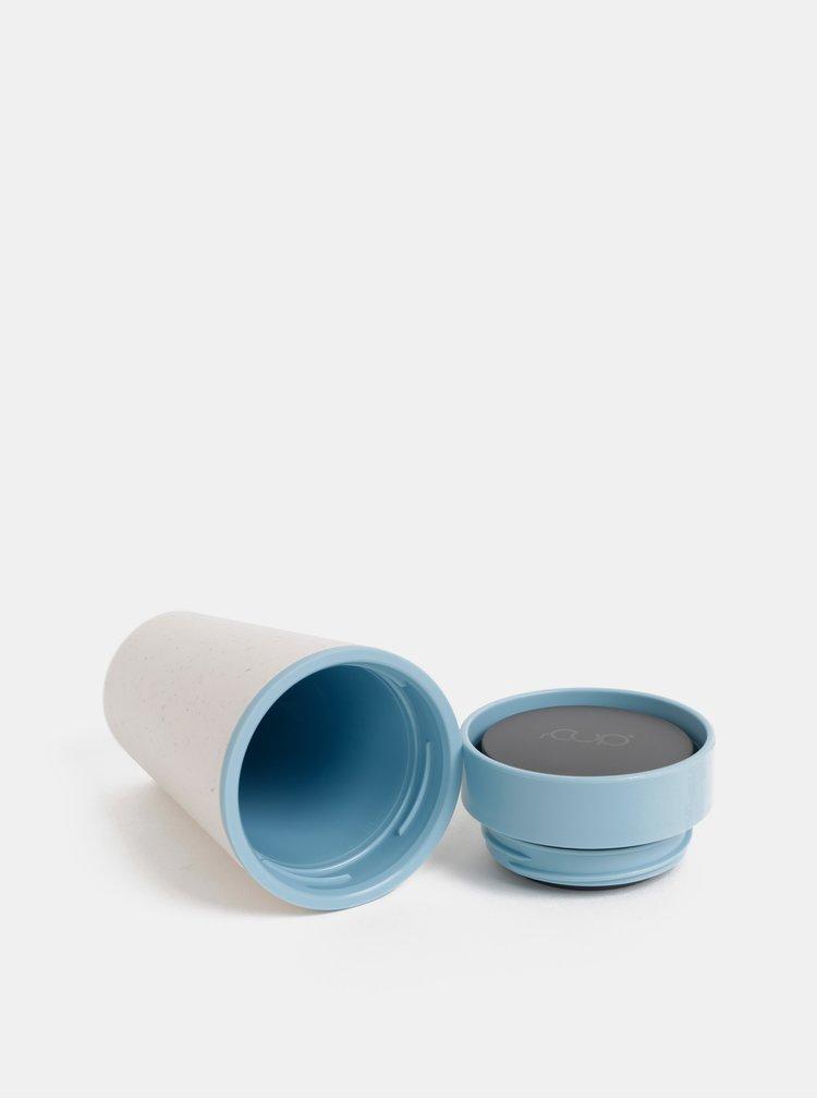 Modro-krémový cestovní hrnek rCUP 340 ml