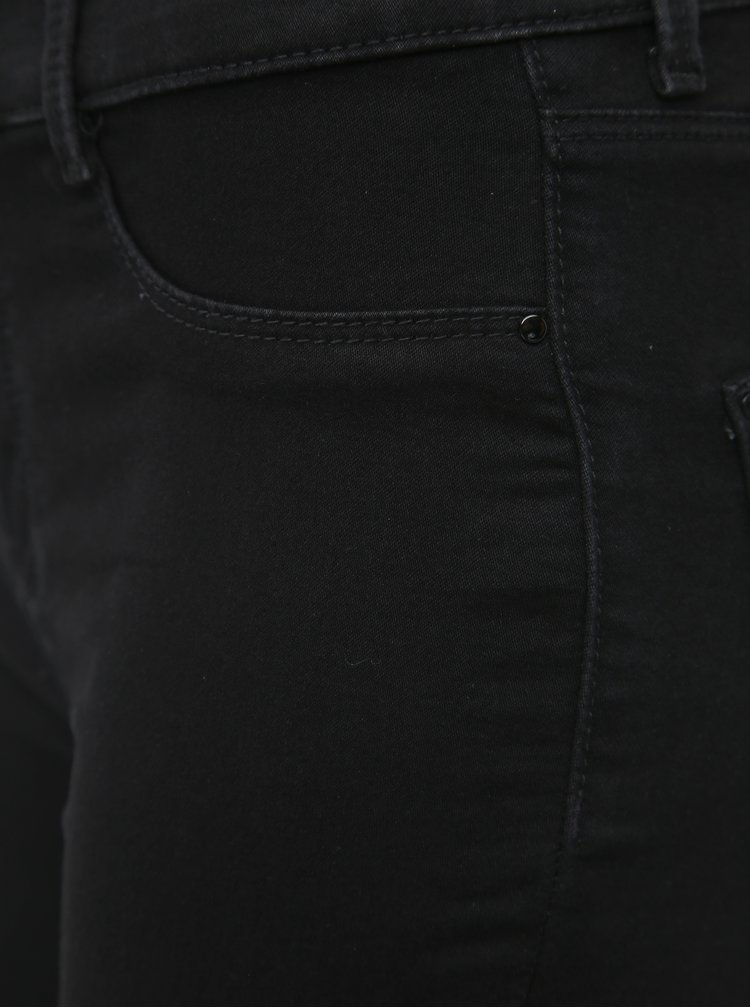 Čierne skinny fit rifle Dorothy Perkins