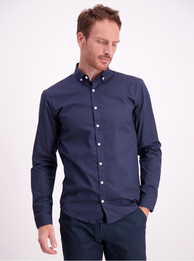 Tmavomodrá vzorovaná košeľa Lindbergh
