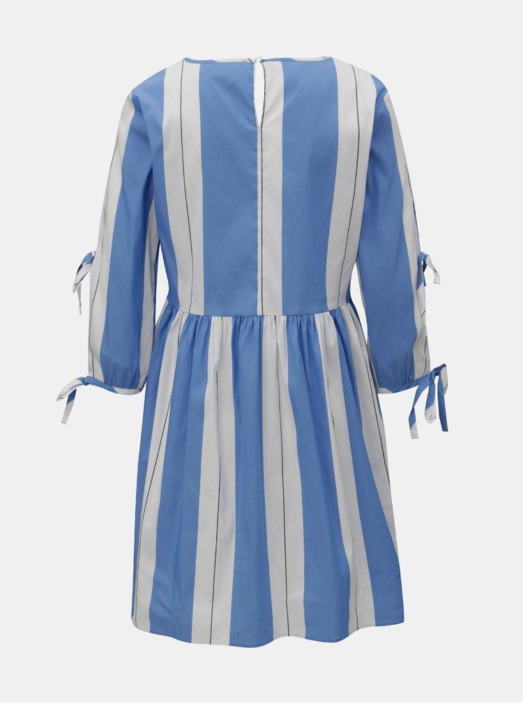 Bílo-modré pruhované šaty Rich & Royal
