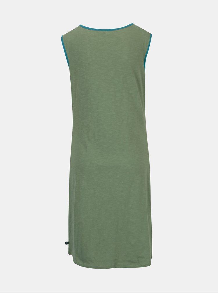 Zelené šaty s nazberkaním v dekolte Tranquillo Aurea