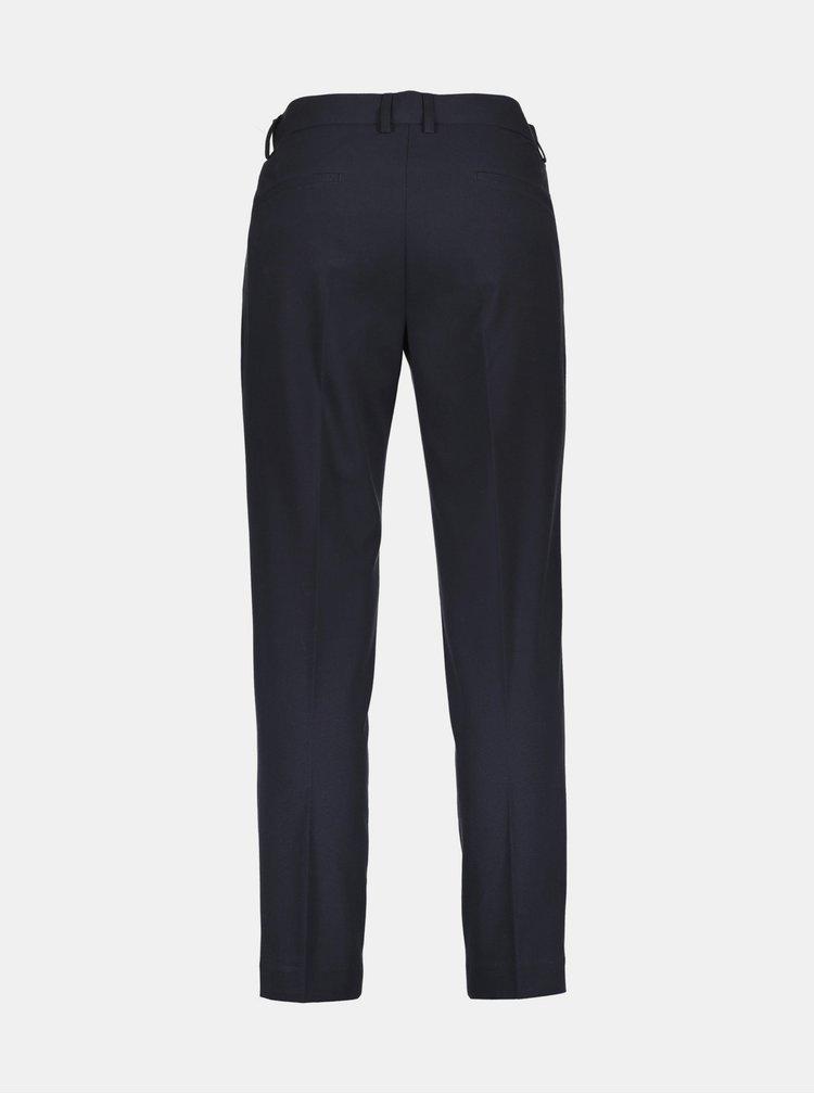 Tmavomodré skrátené slim fit nohavice Lindbergh