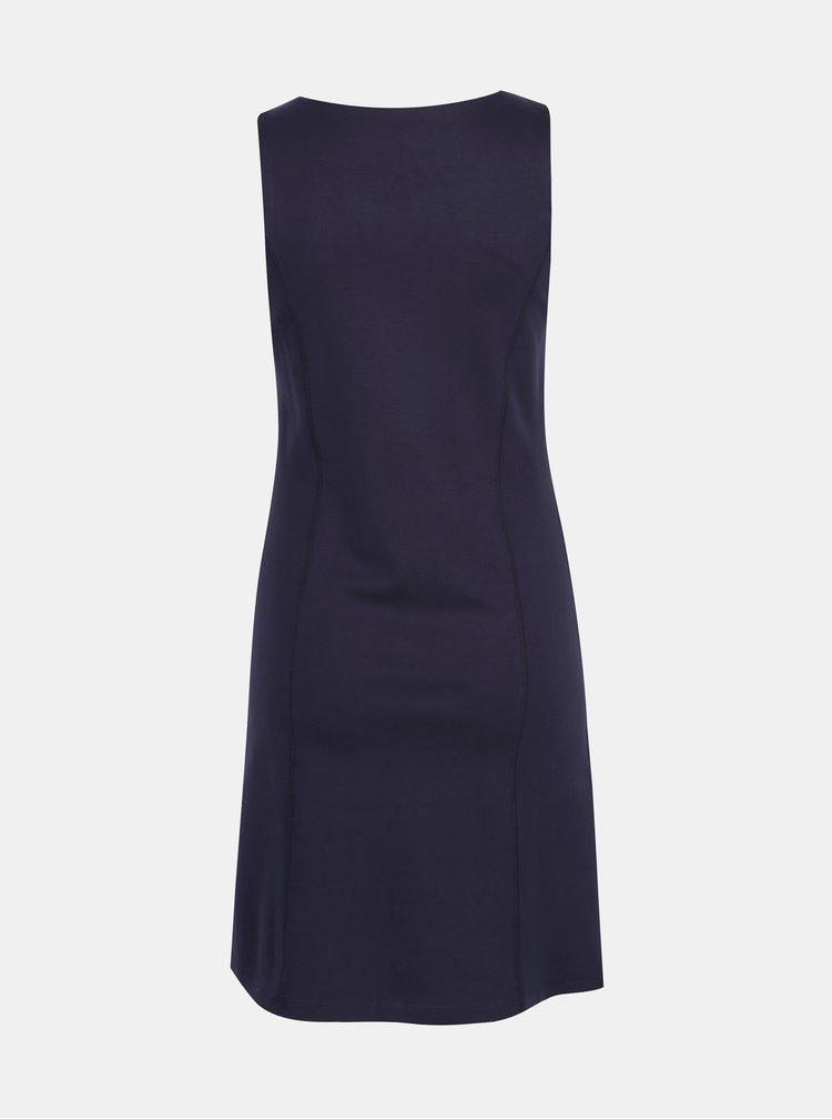 Tmavomodré šaty bez rukávov Yest