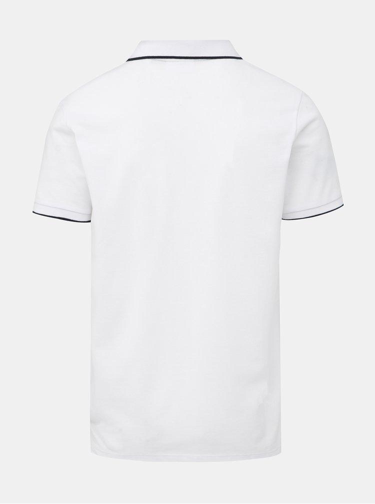 Bílé slim fit polo tričko Lindbergh