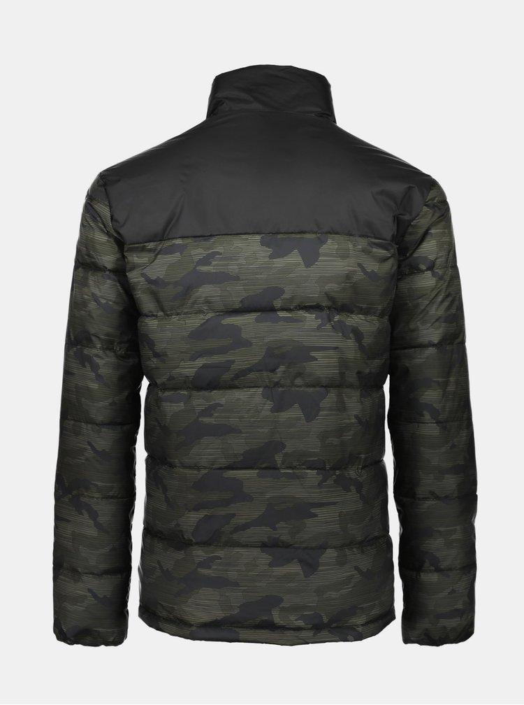 Černo-zelená vzorovaná zimní bunda Shine Original