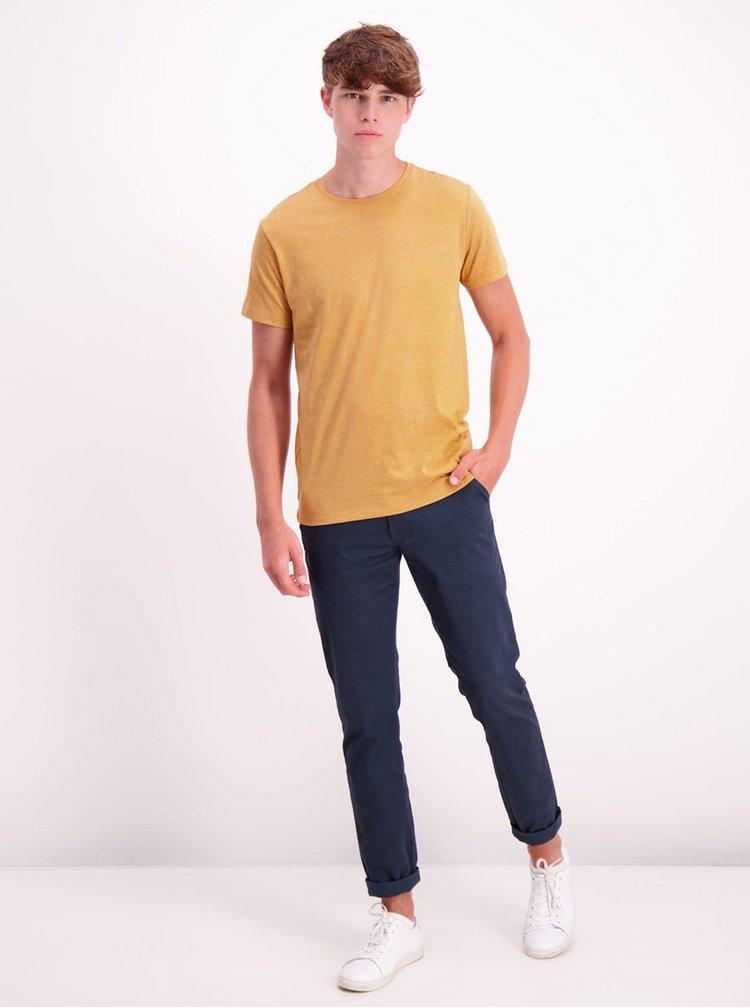 Žluté basic tričko Lindbergh