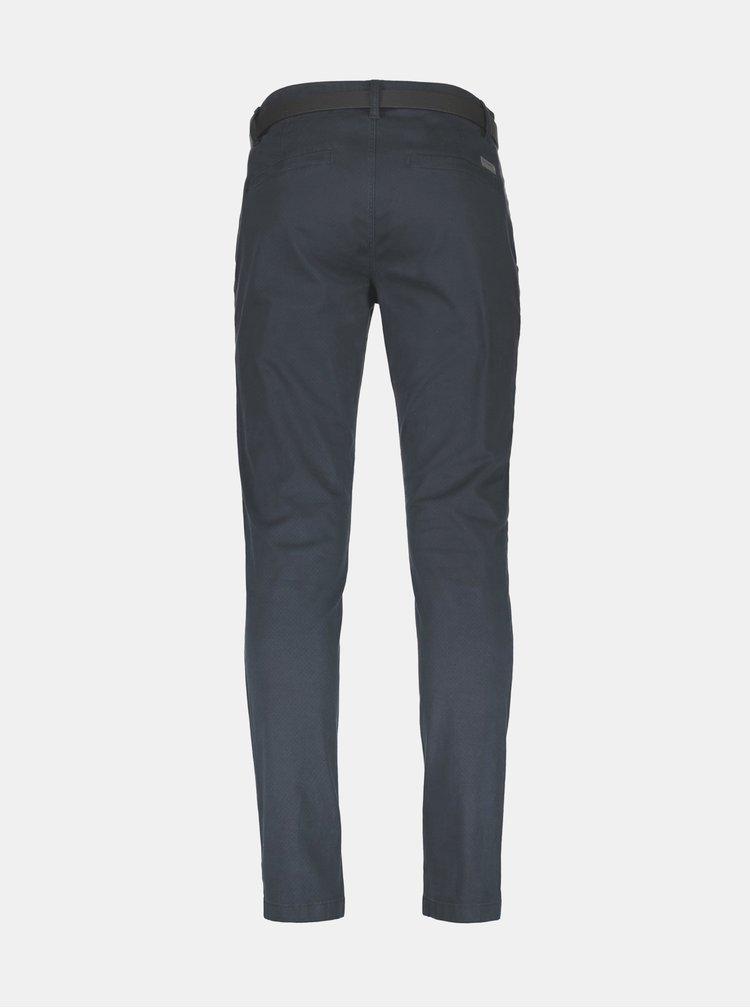 Tmavomodré vzorované chino nohavice Lindbergh