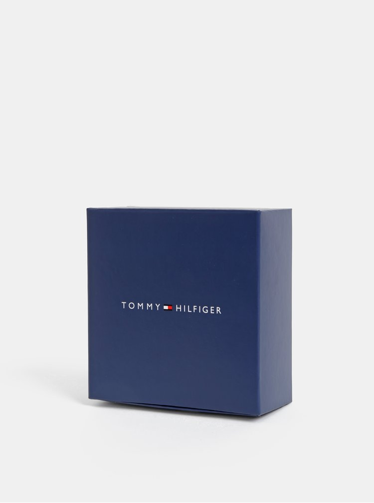 Hnědý kožený náramek Tommy Hilfiger